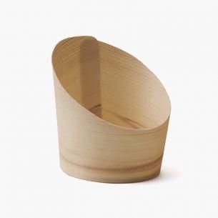 Vaso de madera inclinado...
